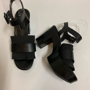 ROBERT CLERGERIE PARIS PLATFORM SANDALS BLACK